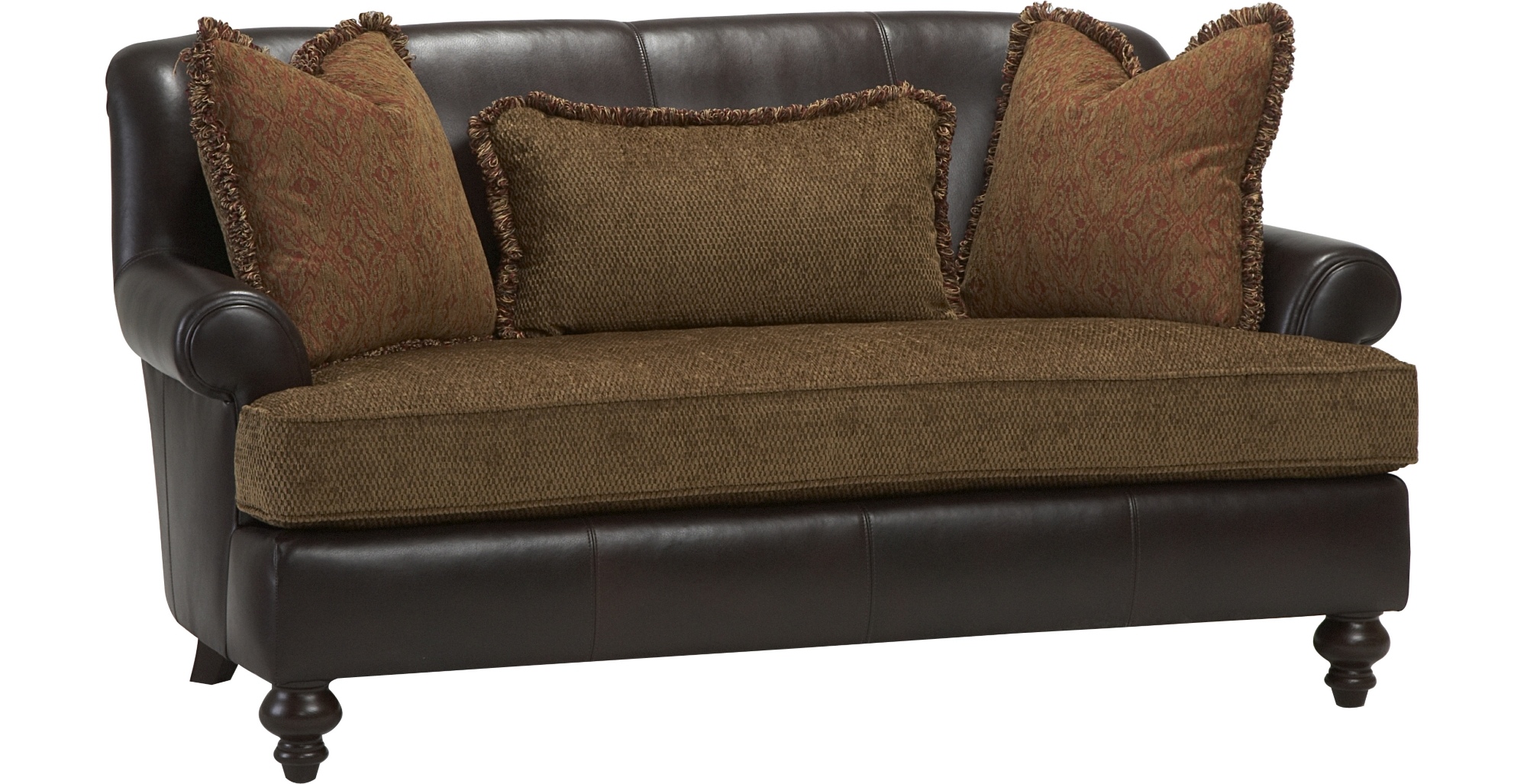 Bernhardt Sofa Leather And Fabric 100 Gray Velvet Tufted