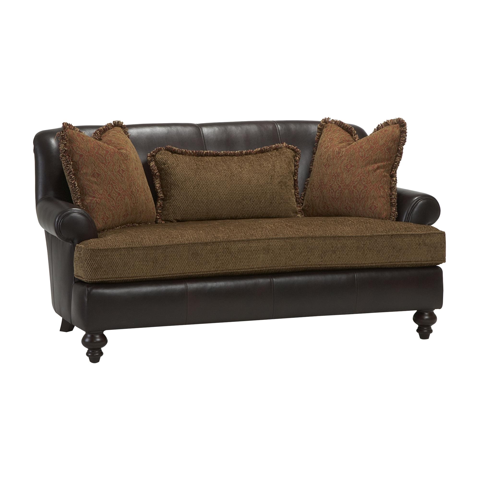 Bernhardt Sofa Leather And Fabric 100 Gray Velvet Tufted