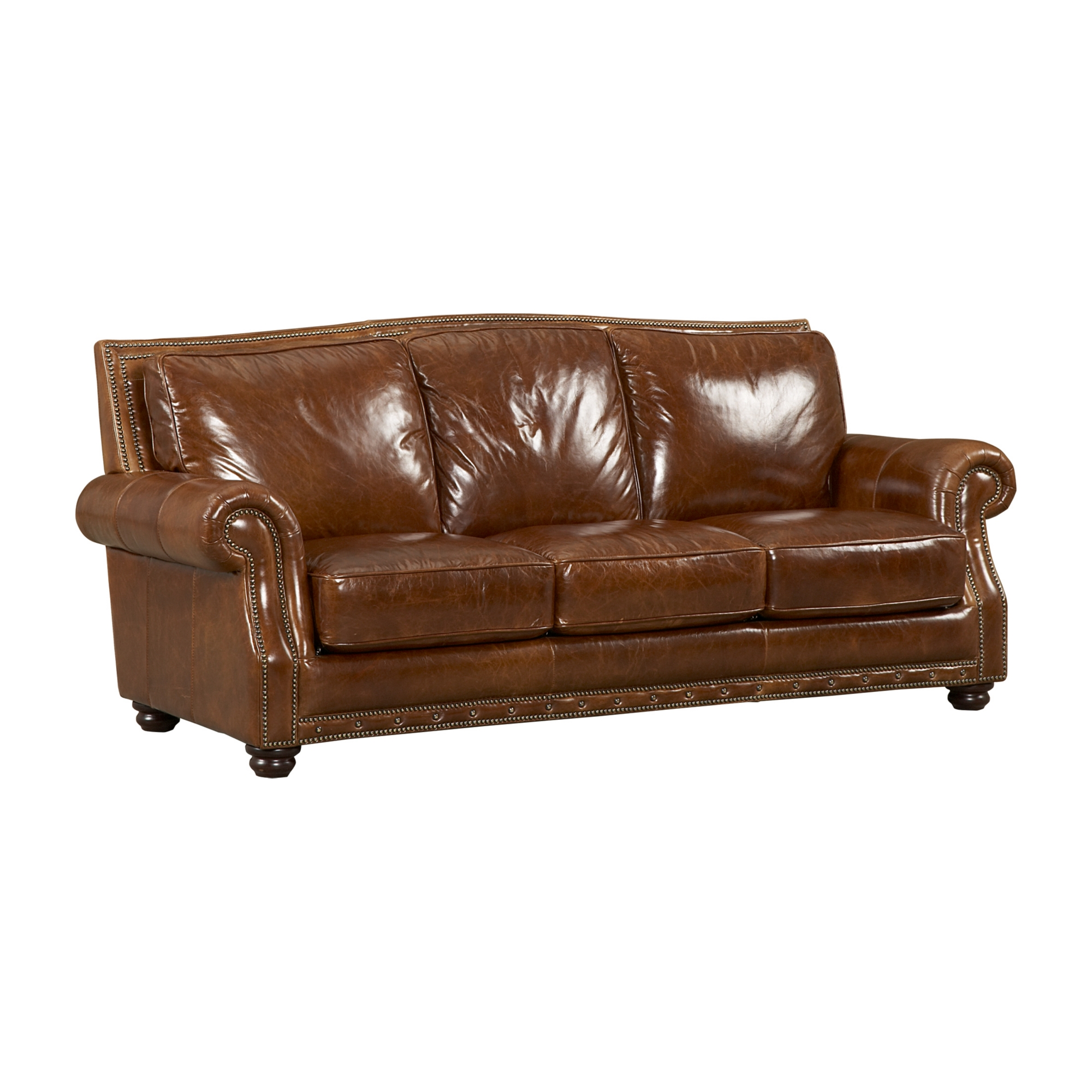 Cagney leather sofa vintage autumn sofa family room for Furniture leather sofa