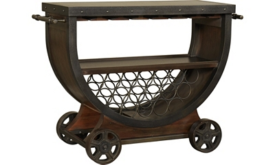 Whiskey Barrel Bar Cart Havertys