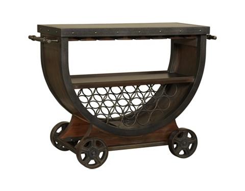 Whiskey Barrel Bar Cart Havertys