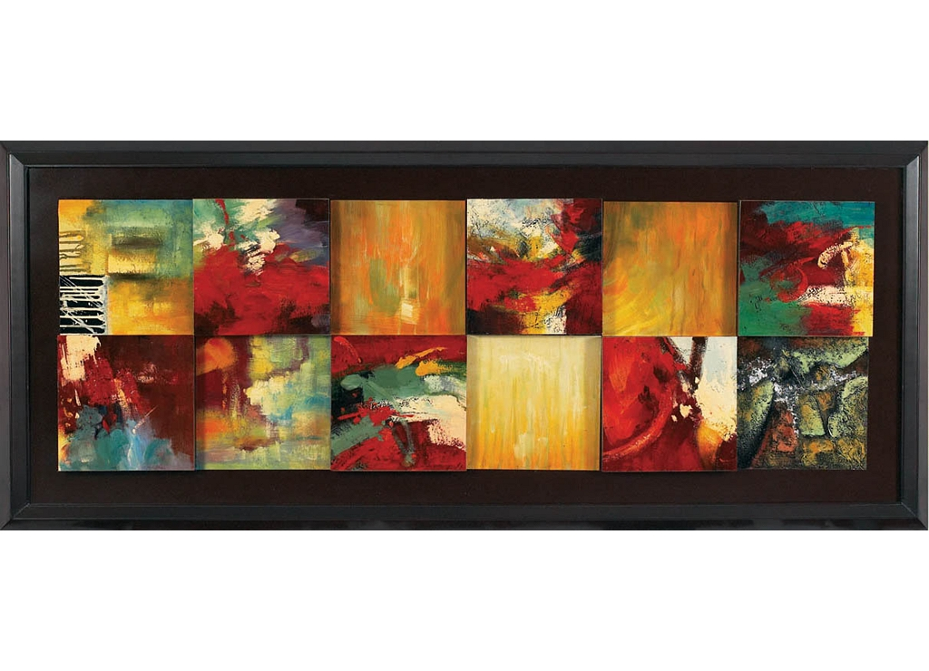 Red Abstract Framed Art | Havertys
