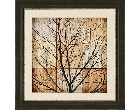 Main Tree Silhouette Framed Art Image