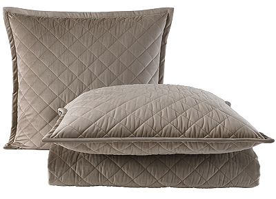 Quilted Velvet Coverlet Ensemble