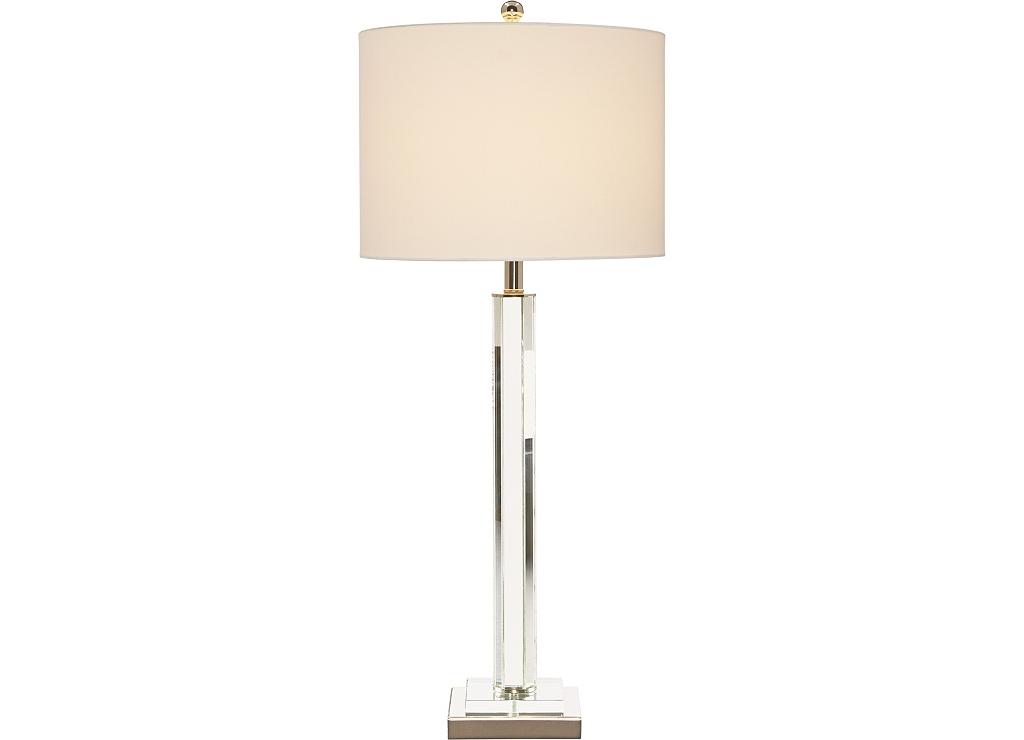 Crystal column table lamp havertys main crystal column table lamp image aloadofball Choice Image