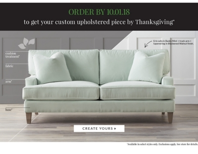 Get Your Custom Upholstered Piece In Time For Thanksgiving ORDER BY  10/01/18 ...