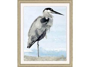 Egret on the Shore Framed Art