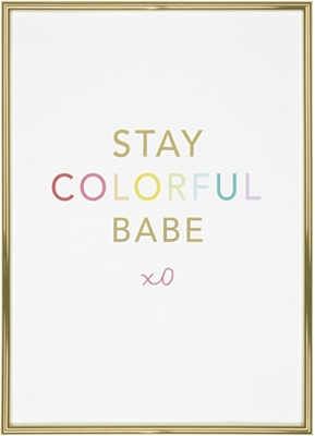 Stay Colorful Babe Wall Decor