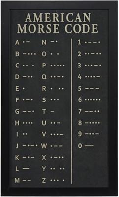 Morse Code Framed Art