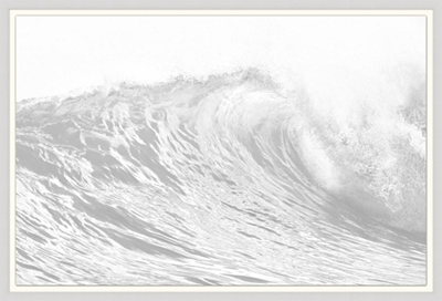 Misted Waves Framed Art