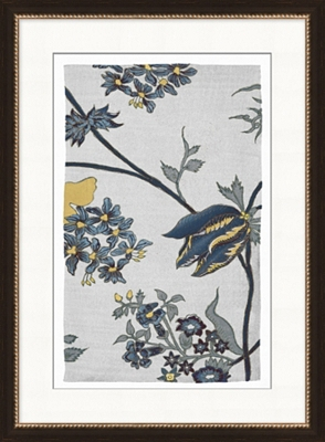 Botanical Textile Framed Art I