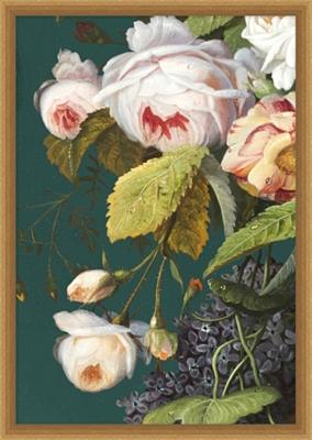 Baroque Bouquet Framed Art I