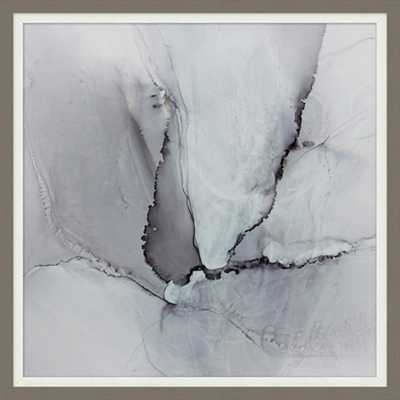 Marbled Gray Framed Art II