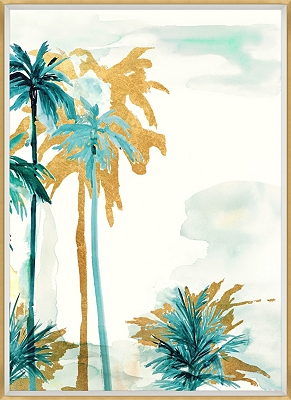 Watercolor Palms Framed Art I