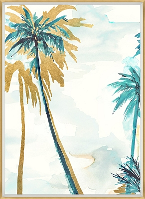 Watercolor Palms Framed Art II
