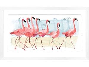 Flamingos Framed Art