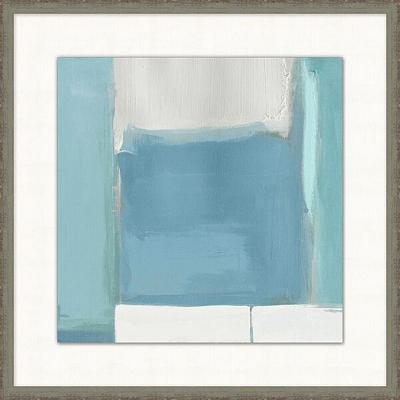 Modern Aqua Framed Art I
