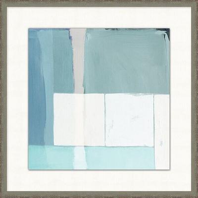 Modern Aqua Framed Art II