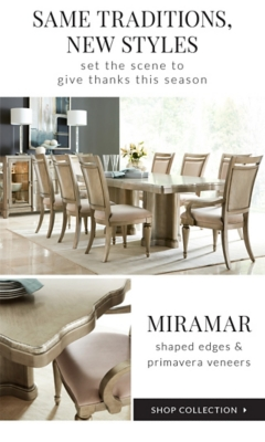 Shop Collection Miramar: Shaped Edges And Primavera Veneers.