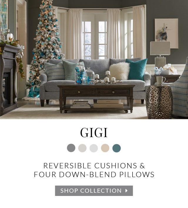 Gigi Reversible Cushions And Four Down Blend Pillows Collection