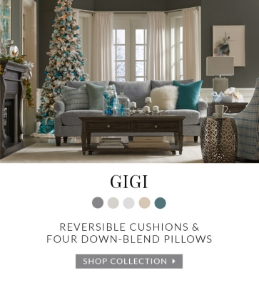 Charmant Gigi: Reversible Cushions And Four Down Blend Pillows. Shop Collection.