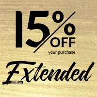 15% off your purchase. Extended.
