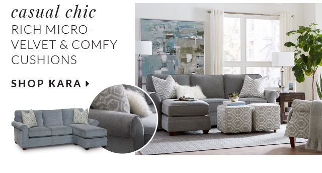 casual chic rich micro velvet and comfy cushions with versatile cube ottomans