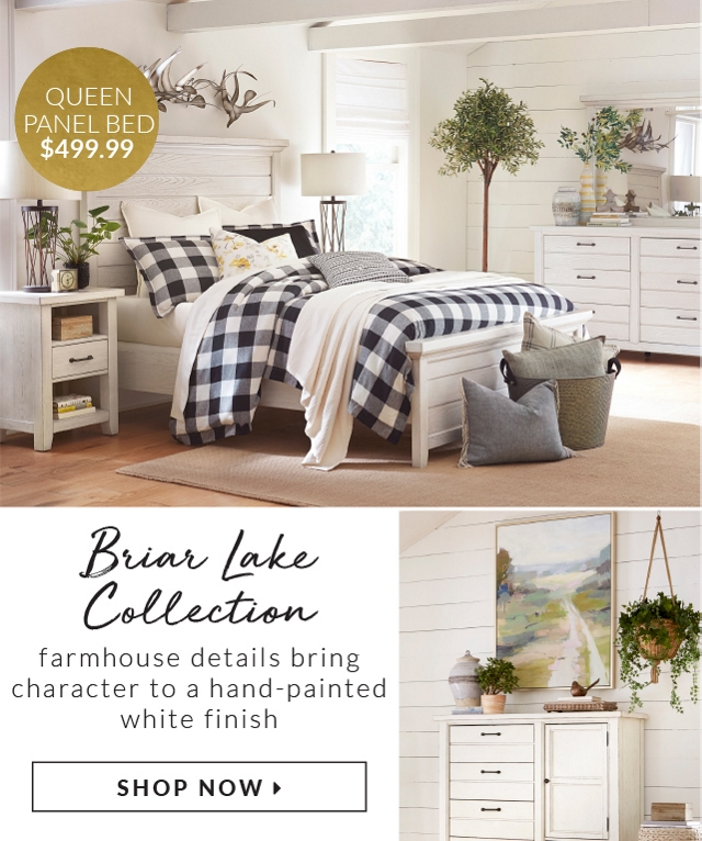 Queen Panel Bed 499 99 Briar Lake Collection Farmhouse Details Bring Character To A
