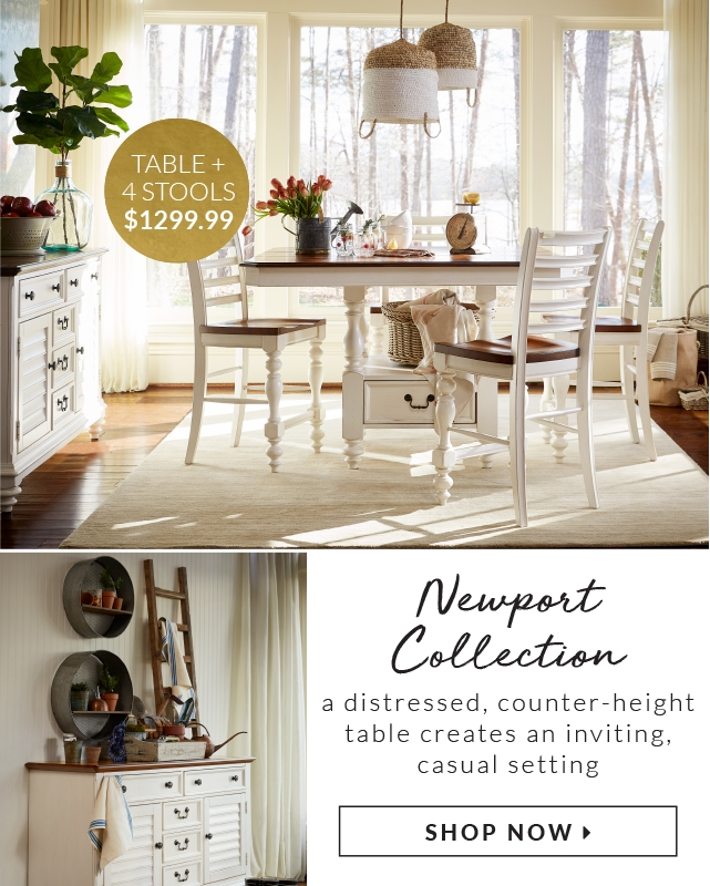 Table 4 Stools 1299 99 Newport Collection Casual Charm Creates An Inviting Setting