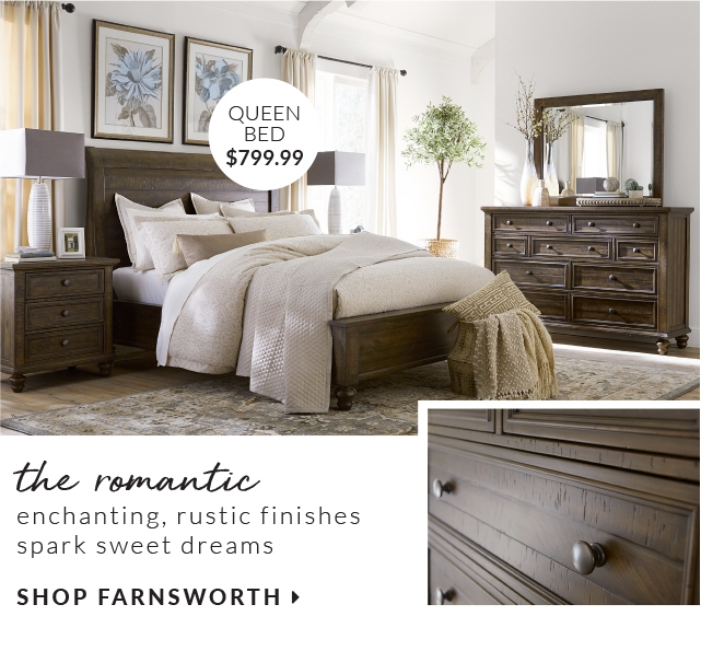 The Enchanting Rustic Finishes Spark Sweet Dreams Queen Bed 799 99