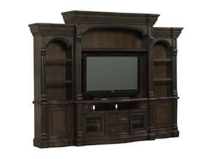 van buren entertainment wall - Entertainment Center With Bookshelves