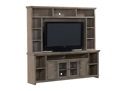 case console gray center book bookcase media wood alois piece stand with distressed units rustic tv products entertainment w hutch