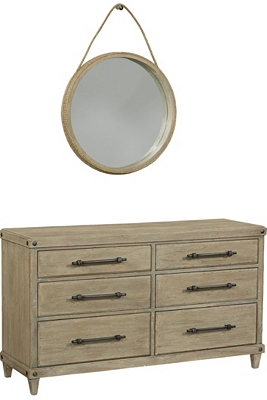 Artisan Cove Dresser with Mirror