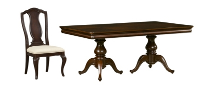 Exceptional Pedestal Table With 4 Dining Chairs