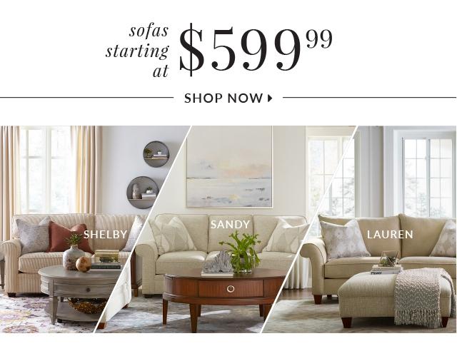 Sofas Starting At 599 99 Now