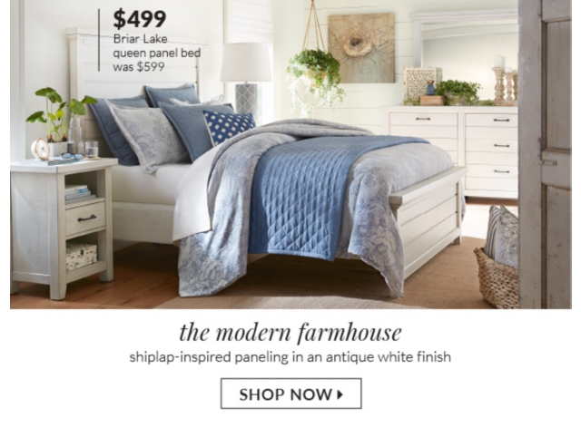 Was 599 99 The Modern Farmhouse Shiplap Inspired Paneling In An Antique White Finish