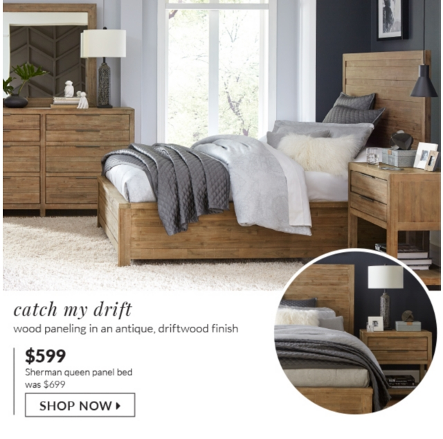 Catch My Drift Rustic Charm With Wood Paneling In An Antique Driftwood Finish