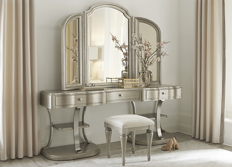 Fine Miramar Vanity Stool Find The Perfect Style Havertys Caraccident5 Cool Chair Designs And Ideas Caraccident5Info