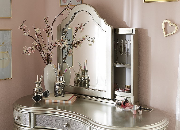 Excellent Kaylah Vanity With Mirror Find The Perfect Style Havertys Ncnpc Chair Design For Home Ncnpcorg