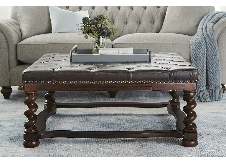 Brunswick Cocktail Ottoman Find The Perfect Style Havertys