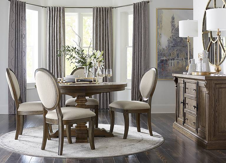 Avondale Ii Round Dining Table Find, Havertys Dining Room Table