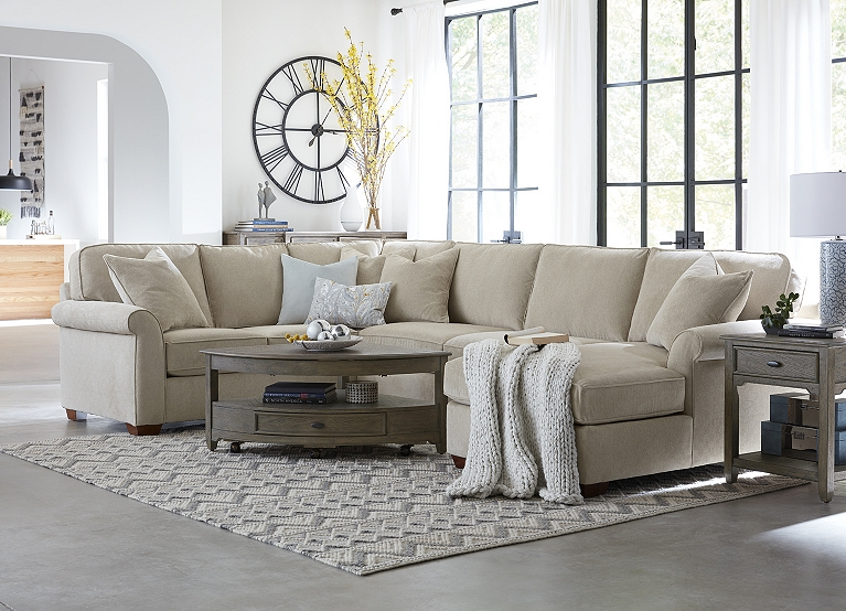 Havertys Sectional With Cuddler | Coffee Tables Ideas