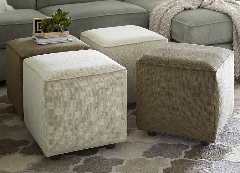 Norfolk Cube Ottoman Find The Perfect Style Havertys