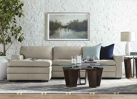 Sectional Sofas In Leather Brown Beige Amp More Havertys