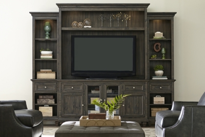 Dark Wood Tv Credenza : Custom made furniture bri s credenza emily henderson