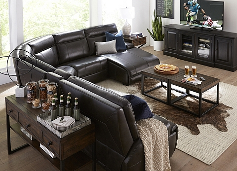 Strange Sectional Sofas In Leather Brown Beige More Havertys Interior Design Ideas Clesiryabchikinfo