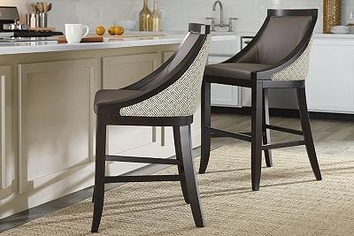 Barstools In Wood Black Brown Fabric More Havertys