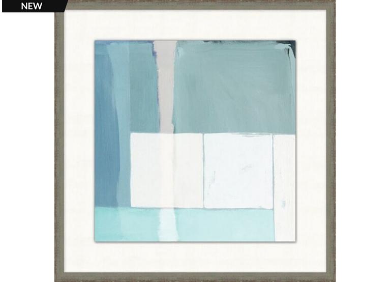 Modern Aqua Framed Art II | Havertys